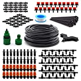 "Flantor Garden Irrigation System, 1/4"" Blank Distribution Tubing Watering Drip Kit / DIY Saving Water Automatic Irrigation Equipment Set for Garden Greenhouse, Flower Bed,Patio,Lawn"