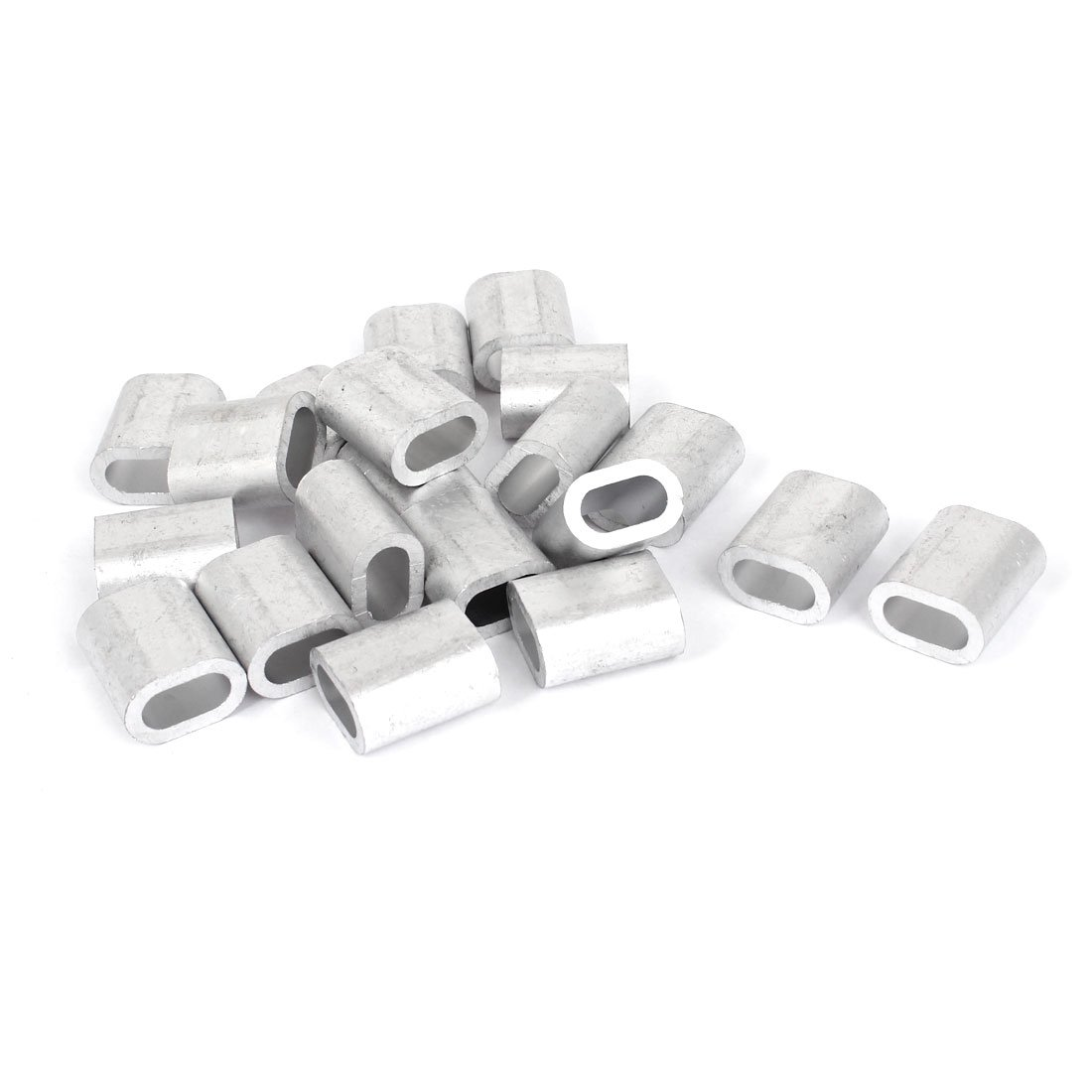 Uxcell a15060500ux0048 5/16-inchWire Rope Aluminum Sleeves Clip Fitting Cable Crimps 20pcs (Pack of 20)