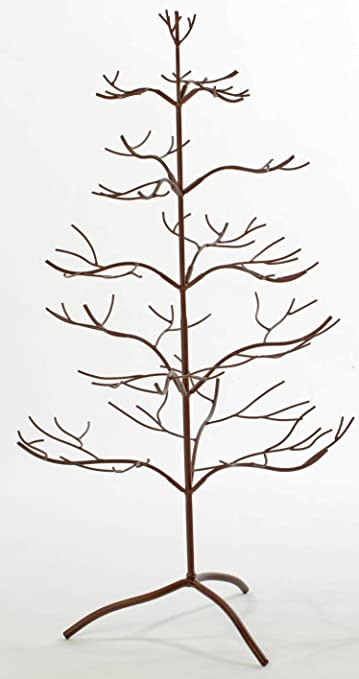 42 brown natural metal tree ornament display - Metal Christmas Tree Ornament Display