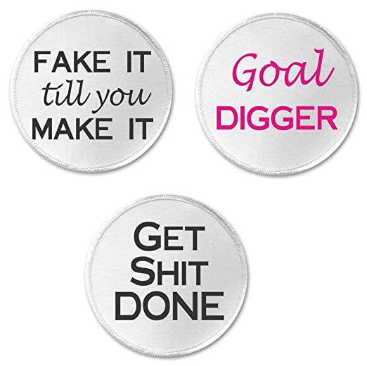 Amazon Set 3 Goal Digger Themed 3 Sew On Patches Boss Bitch