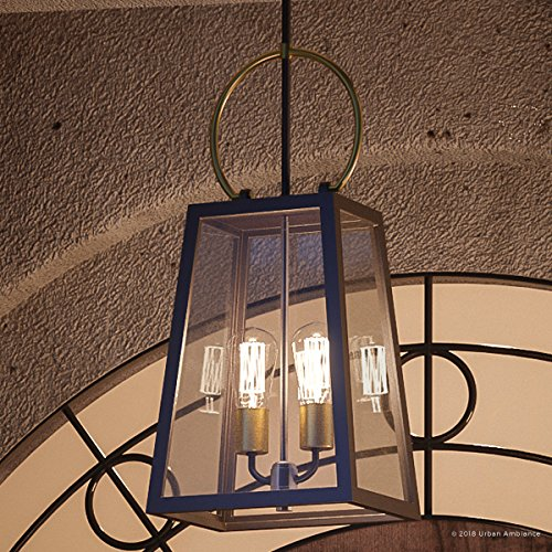 Luxury Vintage Outdoor Pendant Light, Large Size: 26.875