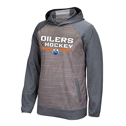 9e9d1f2799d Image Unavailable. Image not available for. Color: adidas Edmonton Oilers  Reebok Center Ice TNT Authentic Locker Pullover Hoodie Men's