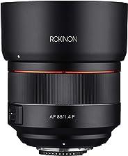 Rokinon - Lente de teleobjetivo de Alta Velocidad para Nikon F (85 mm, F1.4)