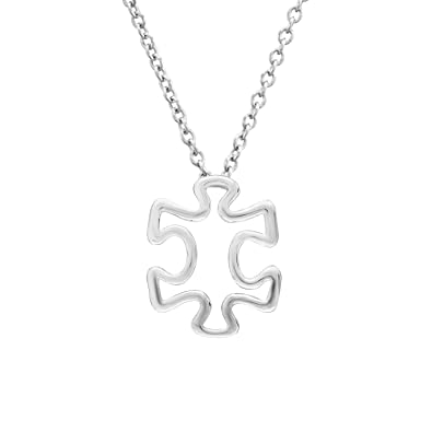 Amazon puzzle piece pendant 1 inch 925 sterling silver autism puzzle piece pendant 1 inch 925 sterling silver aloadofball Gallery