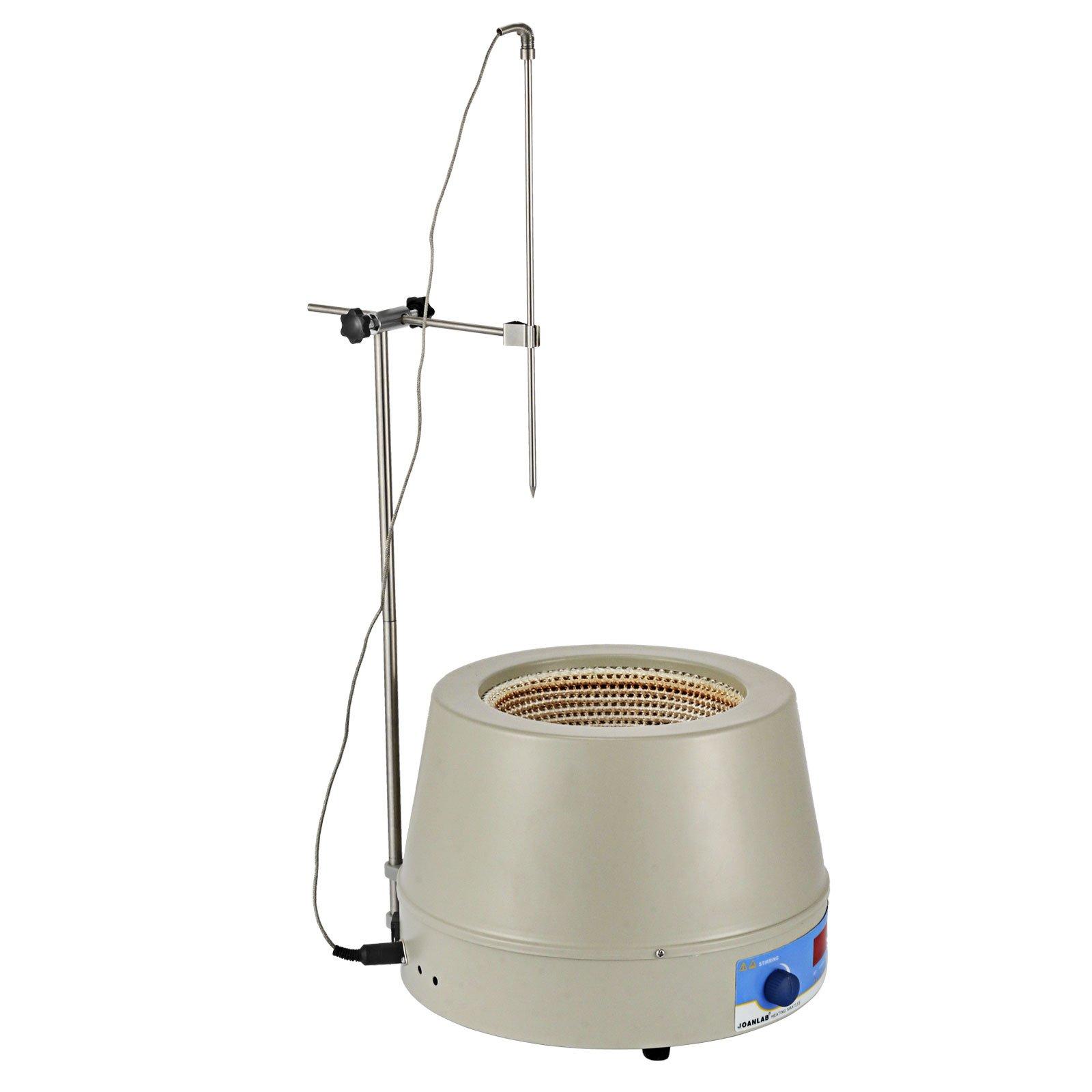 Happybuy Magnetic Stirrer 1400RPM Magnetic Mixer 1000ml Magnetic Stirrer Hot Plate 350W Magnetic Heating Mantle Digital Display Magnetic Stirrer Round Bottom