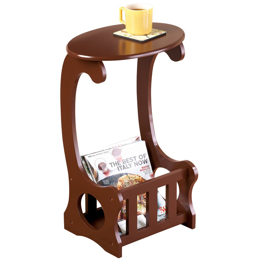 Collections Etc Wooden Magazine Storage Accent Table