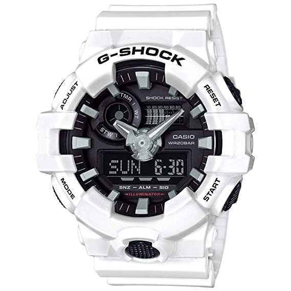 Amazon.com: Casio Mens G Shock GA700-7A White Resin Japanese Quartz Diving Watch: Casio: Watches