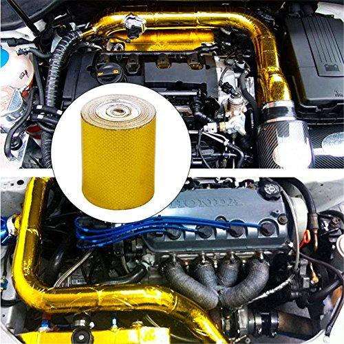 Cinta aislante de sellado de aluminio de grado profesional de alta temperatura, reflectante al calor, adhesivo, tubo de escape de coche, ...