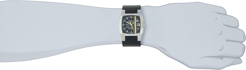 Diesel Watches Men s Black Strap With Yellow Stripe