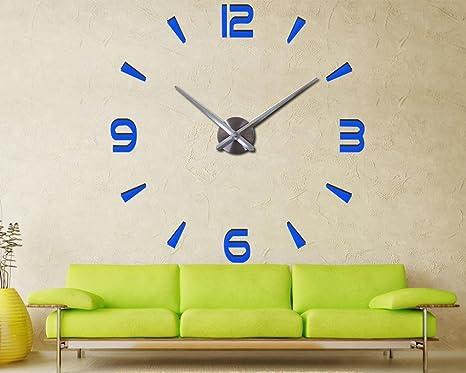 reloj de pared reloj de cuarzo sala de estar grandes relojes decorativos moderno bodegón pegatinas ,