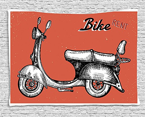 vintage-collection-retro-scooter-sign-for-bike-bicycle-rent-classic-grunge-illustration-art-red-blac