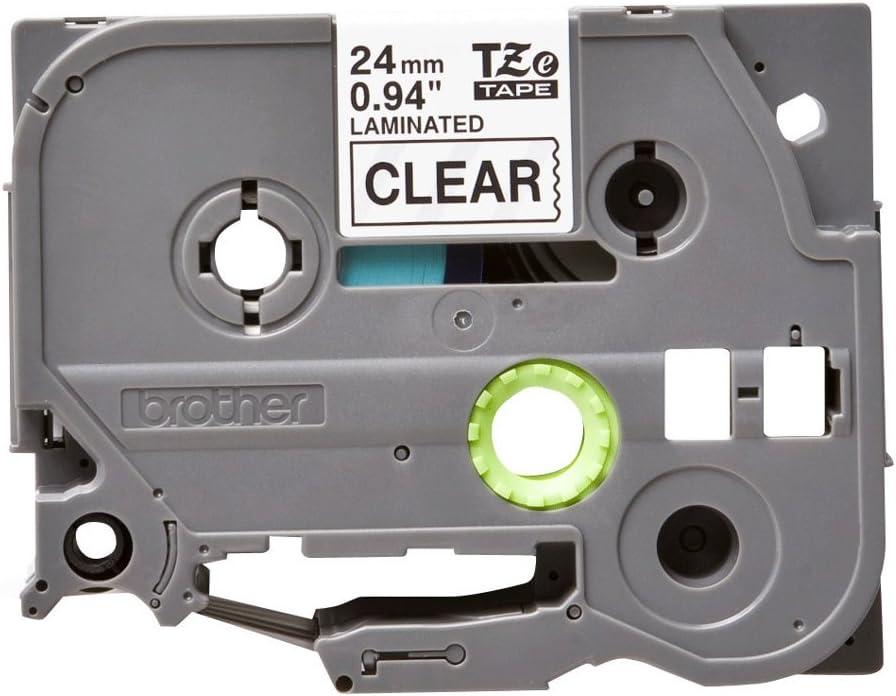 Nero//Bianco 18 mm Brother TZEFX241 Nastro Flessibile