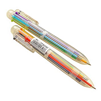 6 in 1 Farbe Kugelschreiber Mehrfarbige Kugelschreiber für Schule BürobedarfJM