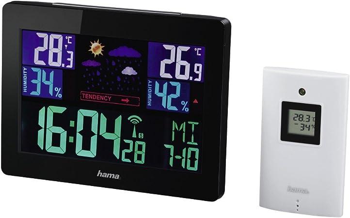 Funk Wetterstation mit Außensensor Wettervorhersage Funkuhr LCD Farbdisplay
