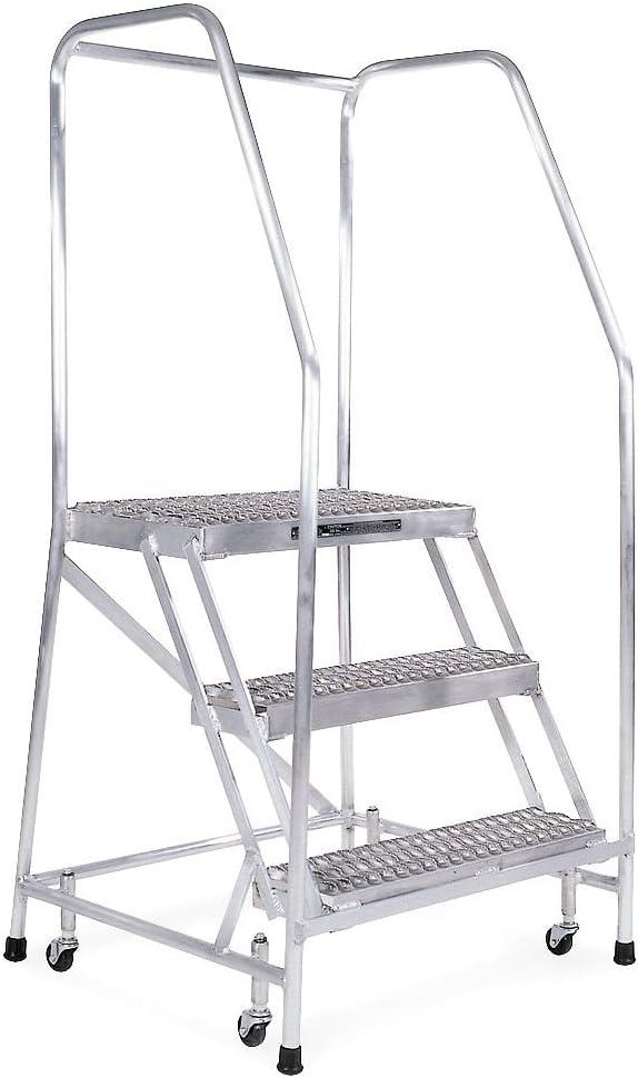Rolling escalera, soldado, pasamanos, plataforma de 20 en H: Amazon.es: Bricolaje y herramientas
