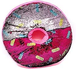 Doughnut-Shape Reversible Sequins Pillow