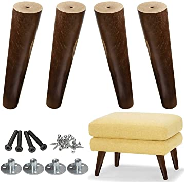 Aoryvic Wood Sofa Legs 8 Inch Pack Of 4 Walnut Finished Furniture