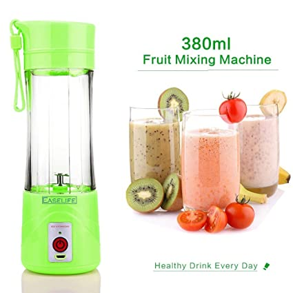 Easelife Usb Peronal Portable Blender Bottle Juicer, Rechargeable Juice Mixer (380Ml)