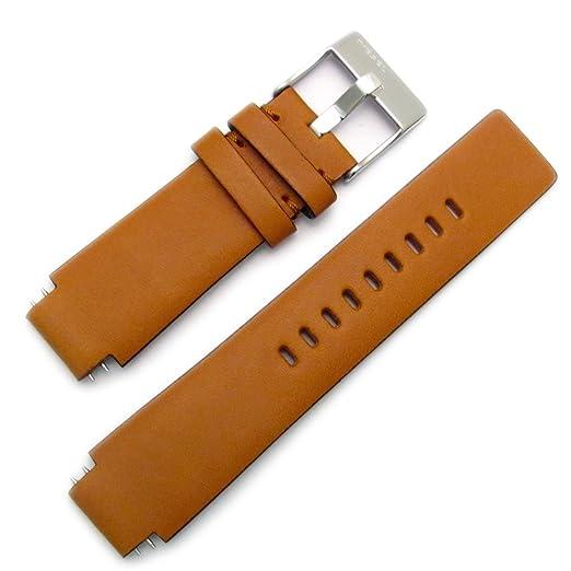 Diesel Genuine Original reloj hebilla de acero correa de piel S/para dz1045: Amazon.es: Relojes