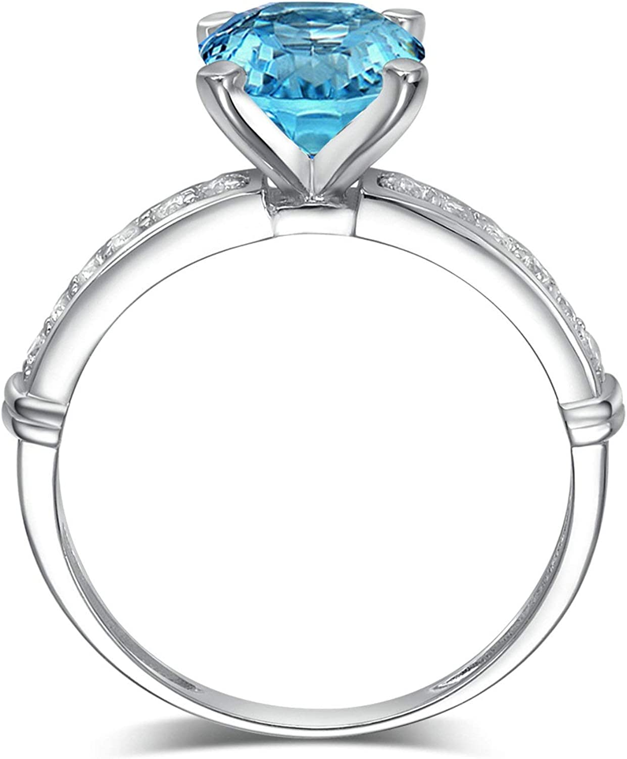 Aooaz Jewelry Silvers Material Promise Ring Round 0 Wedding Anniversary Ring