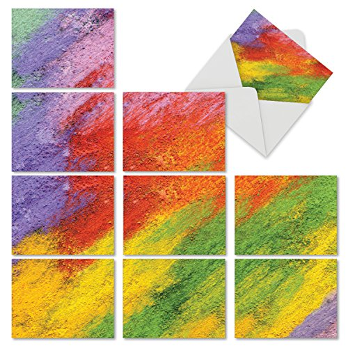 Abstract Art Blank Note (M6623OCB Happy Abstract: 10 Assorted Blank All-Occasion Note Cards Featuring Images of Brightly Painted Abstract Images, w/White Envelopes.)