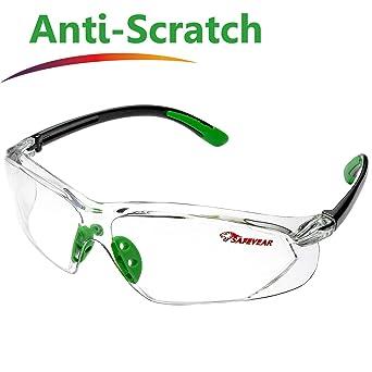 SAFEYEAR Gafas Protectoras Hombres Antiniebla - Gafas de Seguridad de cristal con Lentes Antiarañazos SG003 Color