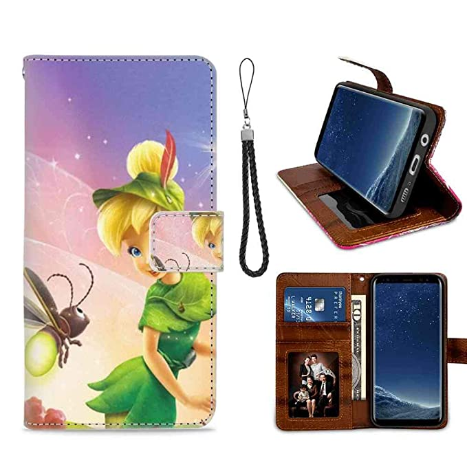 Amazoncom Galaxy S8 Wallet Case 58inch Tinkerbell