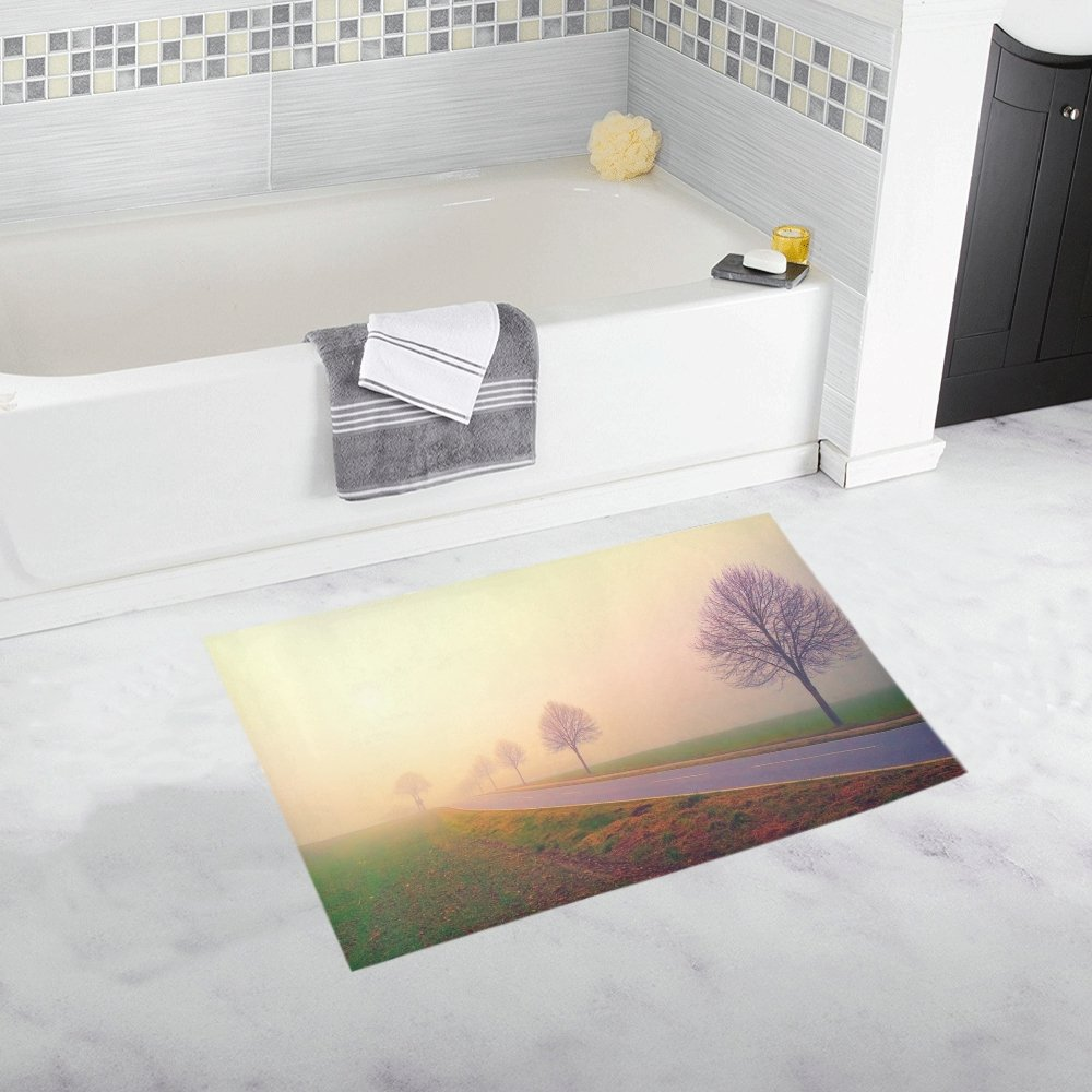 "15X23/"" Kitchen Bath Doormat Non-Slip mat Rug Carpet  Afro hair African Woman"