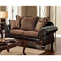 Furniture of America Glenys Loveseat in Espresso