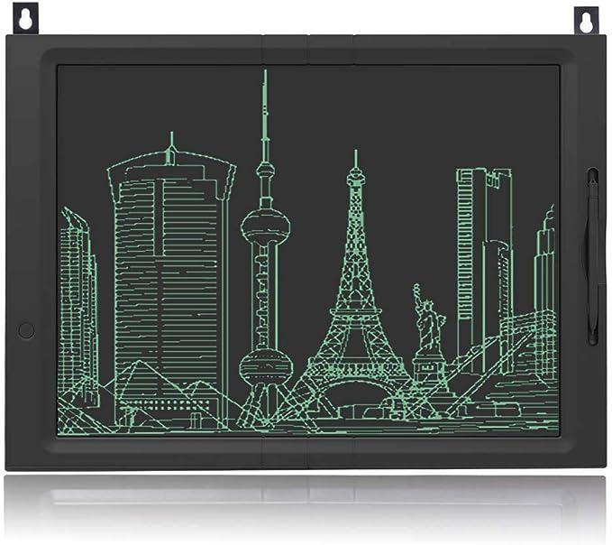 JFUNE Tableta de Escritura LCD, 20 Pulgadas LCD eWriter Tableta portátil LCD Almohadilla Bloqueo Tablero de Dibujo para Niños: Amazon.es: Electrónica