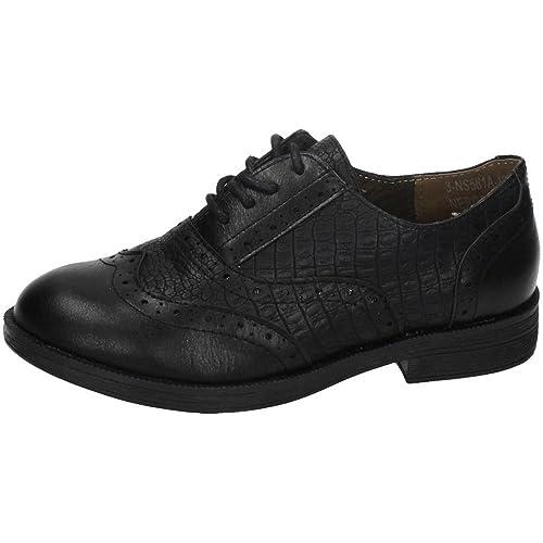 BONINO NS561A-12 Zapatos DE Cordones NIÑA Zapato COLEGIAL Negro 26
