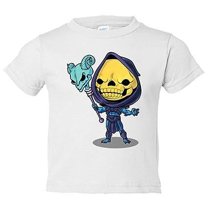 Camiseta niño Chibi Kawaii Skeletor parodia de Masters del Universo - Blanco, 18-24