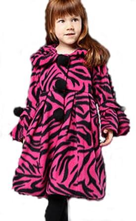 Amazon.com: Girls Fuchsia Zebra Print Coat (4): Dress Coats: Clothing