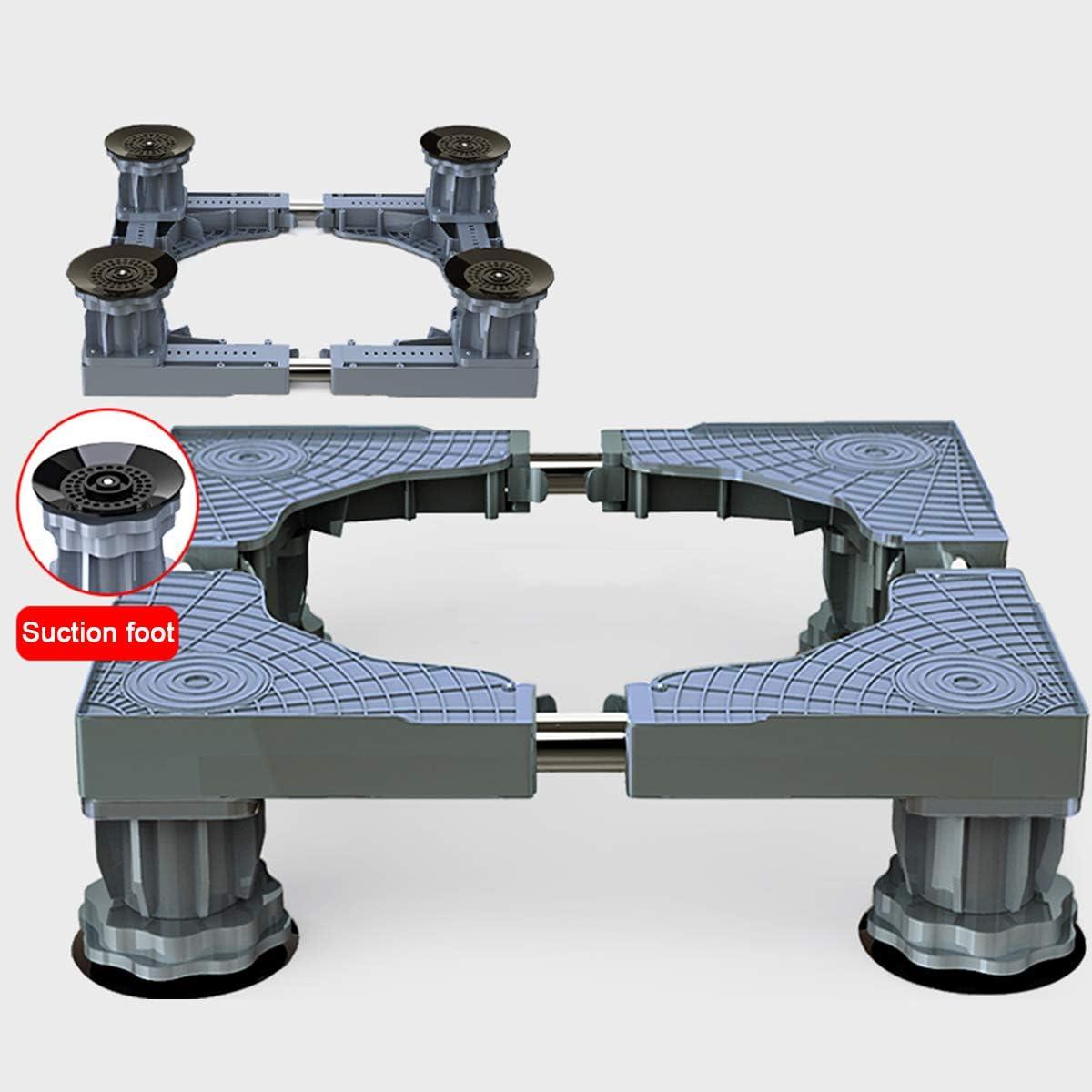 Mfnyp Lavadora Base del Pedestal, Lavadora Armario Empotrado, 4 Patas de Soporte Ajustables, para Secadora, Lavadora y refrigerador