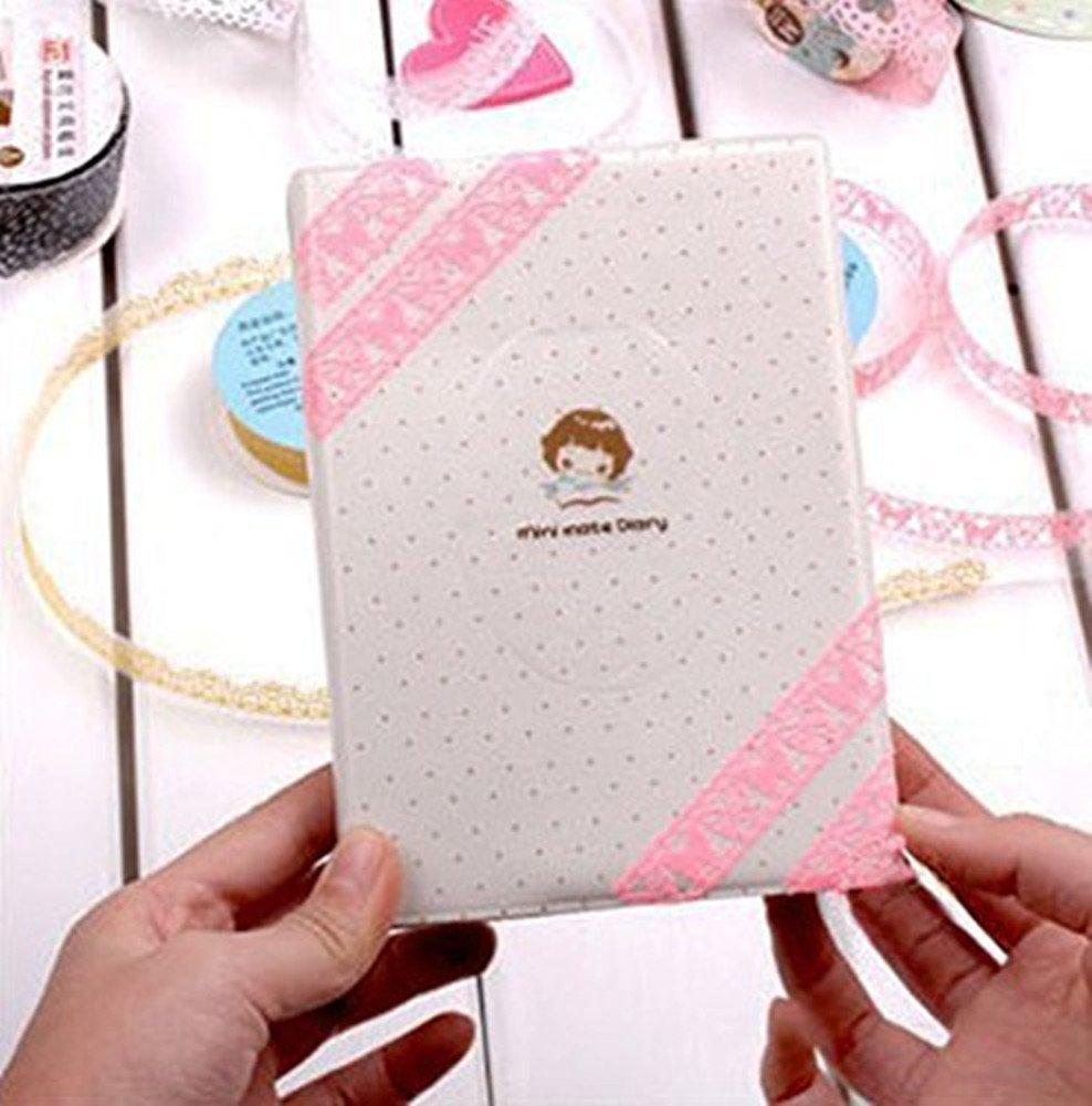 Washi cinta adhesiva de encaje con dise/ño de flores 3 rollos cinta adhesiva para /álbumes de recortes y decoraci/ón de tel/éfono transparente cinta decorativa