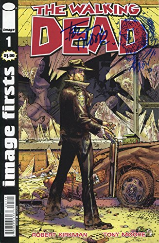 Tony Moore Original Sketch on The Walking Dead #1. Includes Fanexpo Certificate of Authenticity and Proof. Signed and Autographed. Entertainment One of a kind Art Original