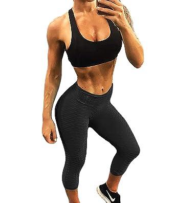 c16bdaf9b FITTOO Women Butt Lift Ruched Mesh Yoga Pants Sport Pants Workout Leggings  Sexy High Waist Trousers