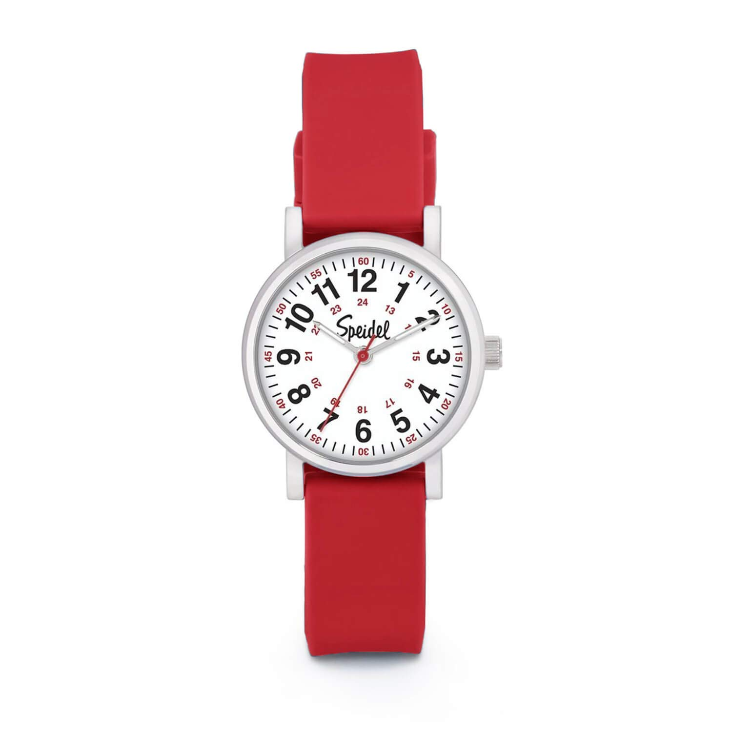 Speidel Women's Scrub Petite Watch for Medical Professionals - Easy to Read Small Face Luminous Hands Silicone Band Second Hand Military Time for Nurses Doctors Students in Scrub Matching Colors