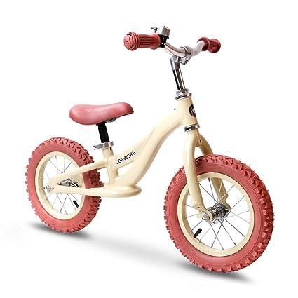 "COEWSKE 12""Balance Bike para niños Niños Corriendo Bicicleta Aleación de Aluminio Sin Pedal Caminar"