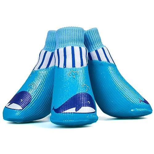 Calcetines Impermeables para Perros Calcetines Antideslizantes para Mascotas de algodón Calcetines Deportivos de otoño e Invierno