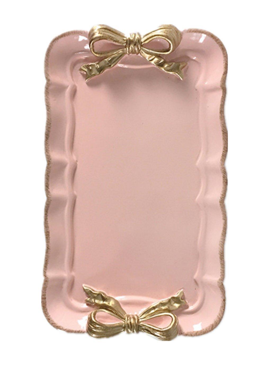 Snack Cake Ceramic Pineapple Leaf Plate Tray (White)