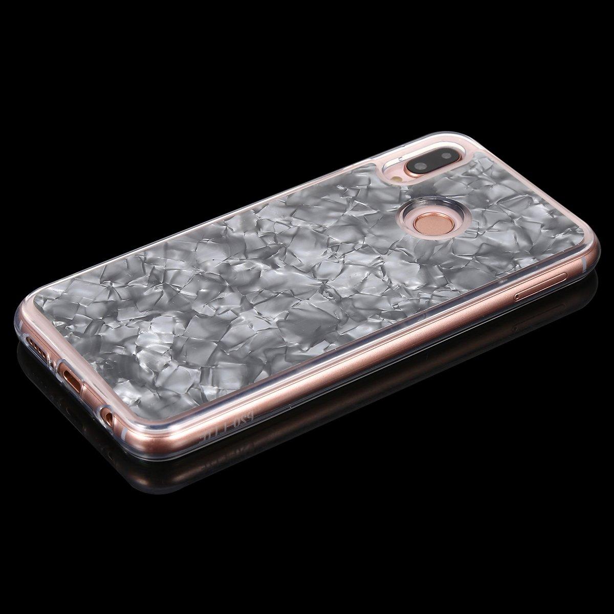 Surakey Funda Compatible para Huawei P20 Lite Funda Silicona Protecci/ón contra Ca/ídas Hybrid Protecci/ón Interna Flexible y Bordes de Parachoques duraderos,Rosado Anti-Ara/ñazos