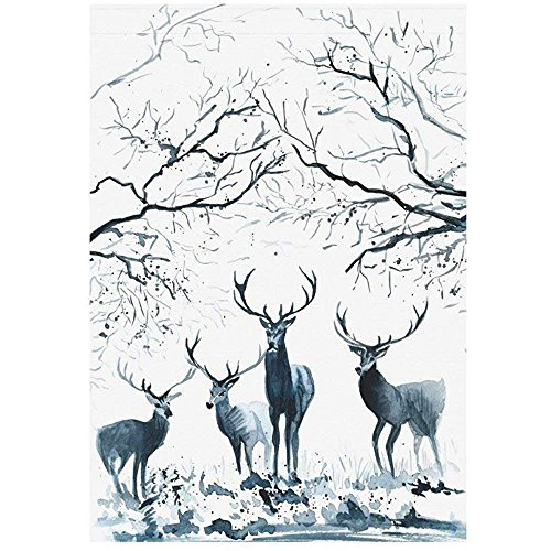 Starowas Winter Deers in the Woods Garden Flag Outdoor Banne