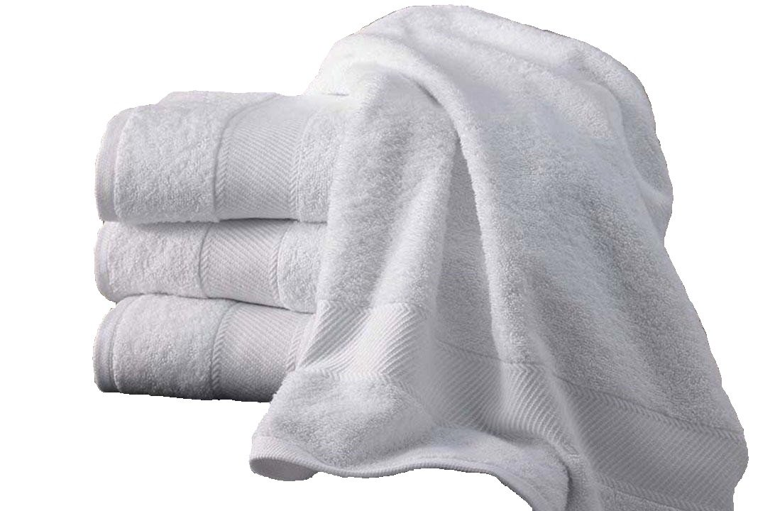 5 serviettes de bain 50x100 cm 500gr/m² pur coton égyptien BLANC HOTEL (50 x 100 cm) ORPHEEBS TEXTILES INDUSTRY