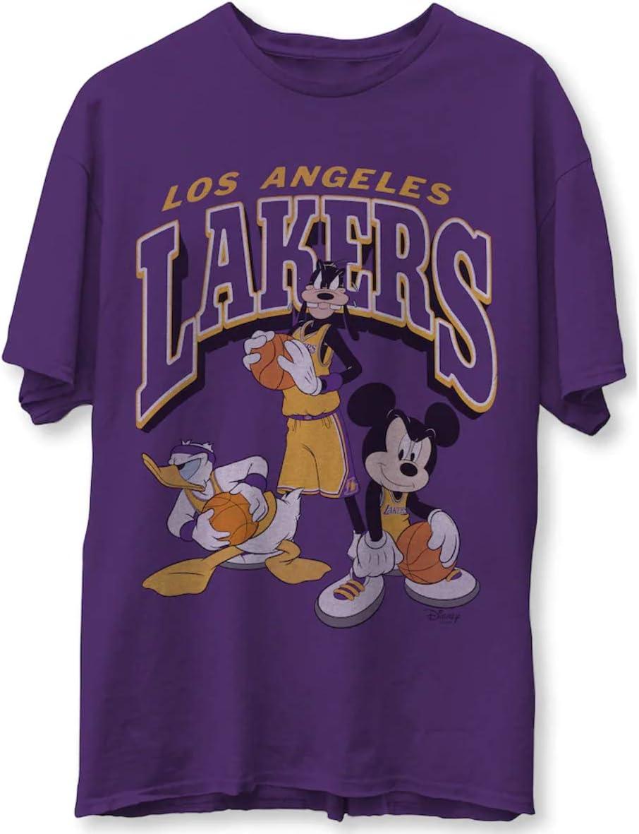 Lốs Angélés Lákérs Júnk Food Dísnéy Míckéy Squad T Shirt Tee T-shirt Long Sleeve Sweatshirt Hoodie Customize