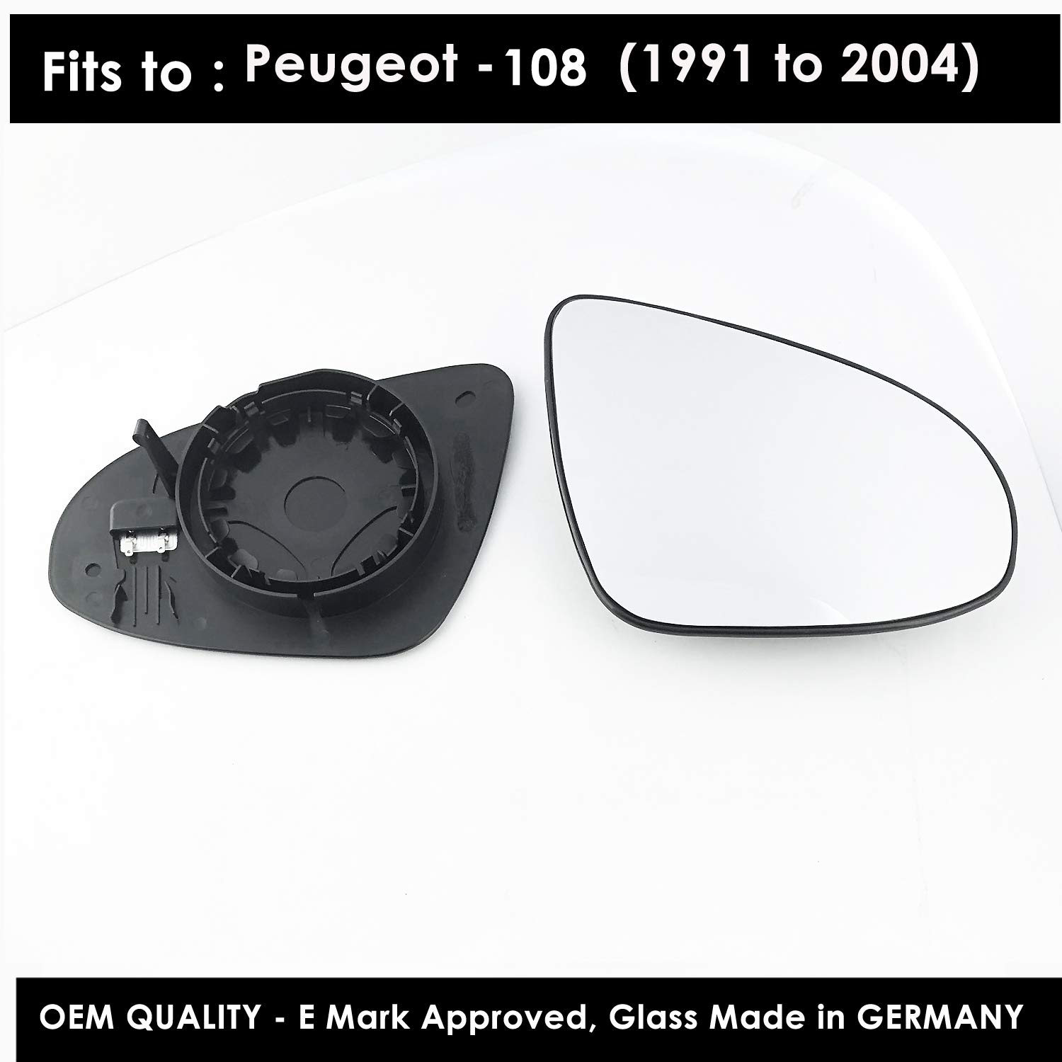 RIGHT SIDE AUDI A4 2015 HEATED /& BASE PLATE /> 2019 DOOR WING MIRROR GLASS