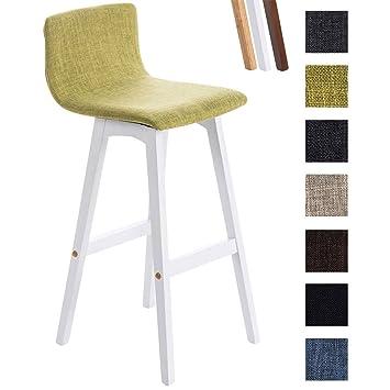 chaise de bar noir assise tissu