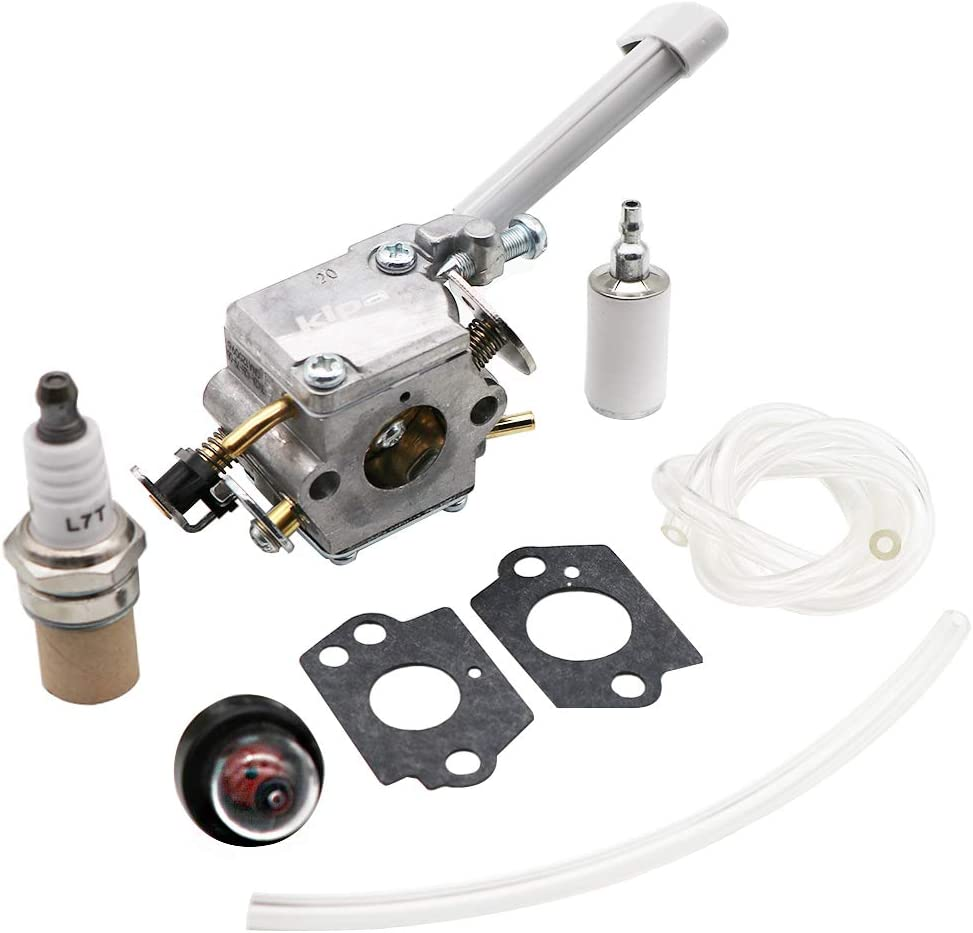 KIPA Carburetor 308054079 for Ryobi RY08420 RY08420A Backpack Blower BP42 530069247, with Mounting gaskets Fuel Filter New Spark Plug Fuel Lines Prime Bulb, Durable Fuel Carburetor mantience kit