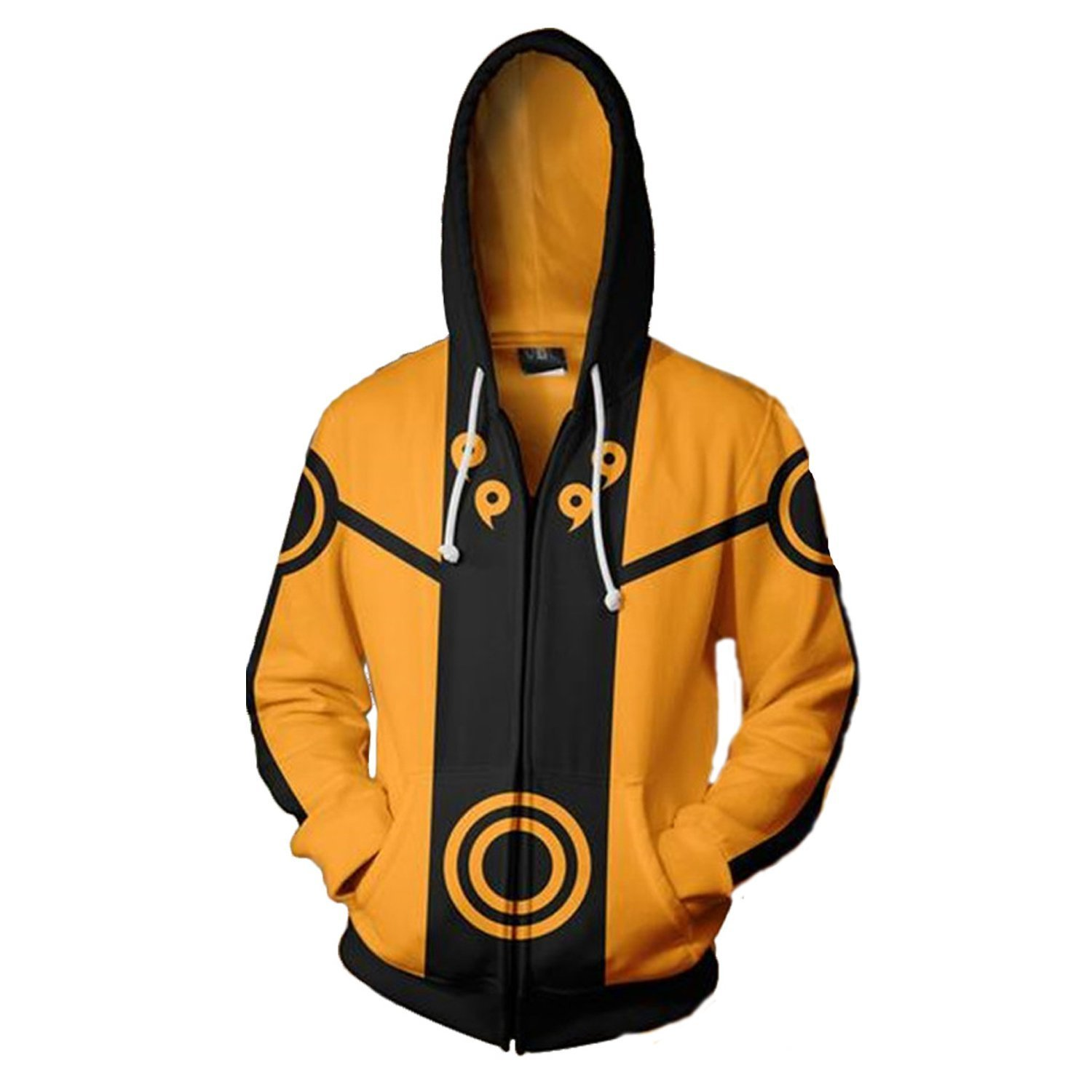 ValorSoul Adult Hoodies Uniform Jacket Cosplay Hoodies with Zippers (XL/US M, Yellow)