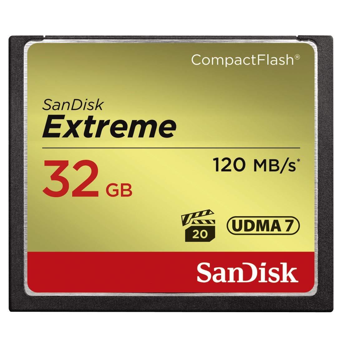 SanDisk Extreme 32GB CompactFlash Memory Card UDMA 7 Speed